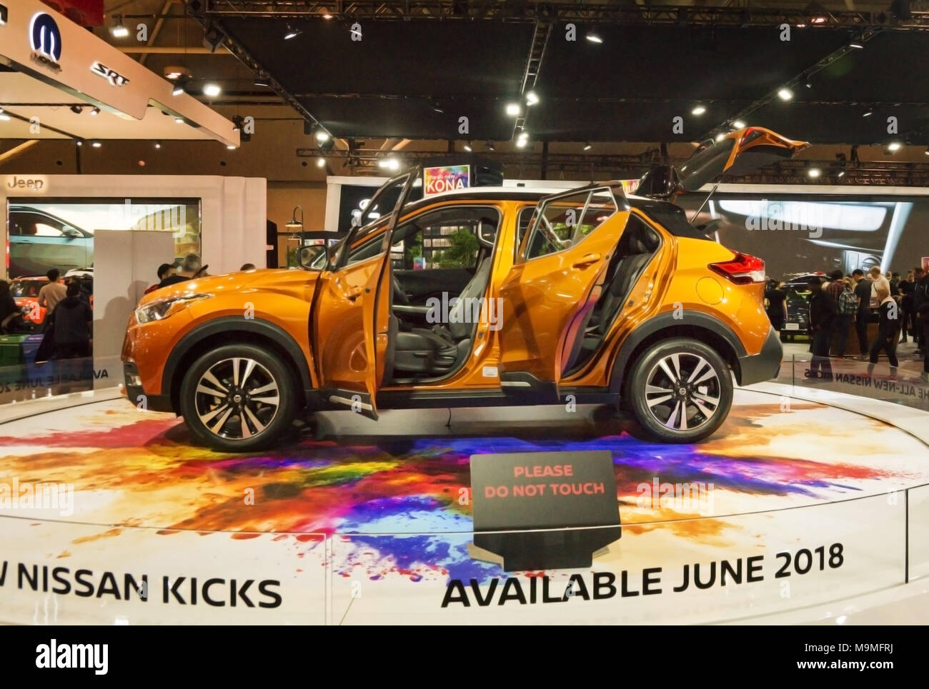 Toronto, Canada - 2018-02-19: Nissan Kicks Concept displayed on the Nissan Motor Co. exposition on 2018 Canadian International AutoShow - Stock Image