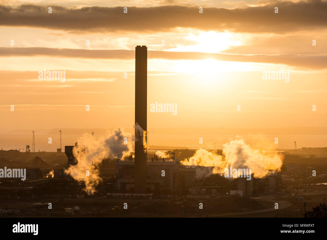 Tata Steel steelworks in Port Talbot, South Wales. - Stock Image