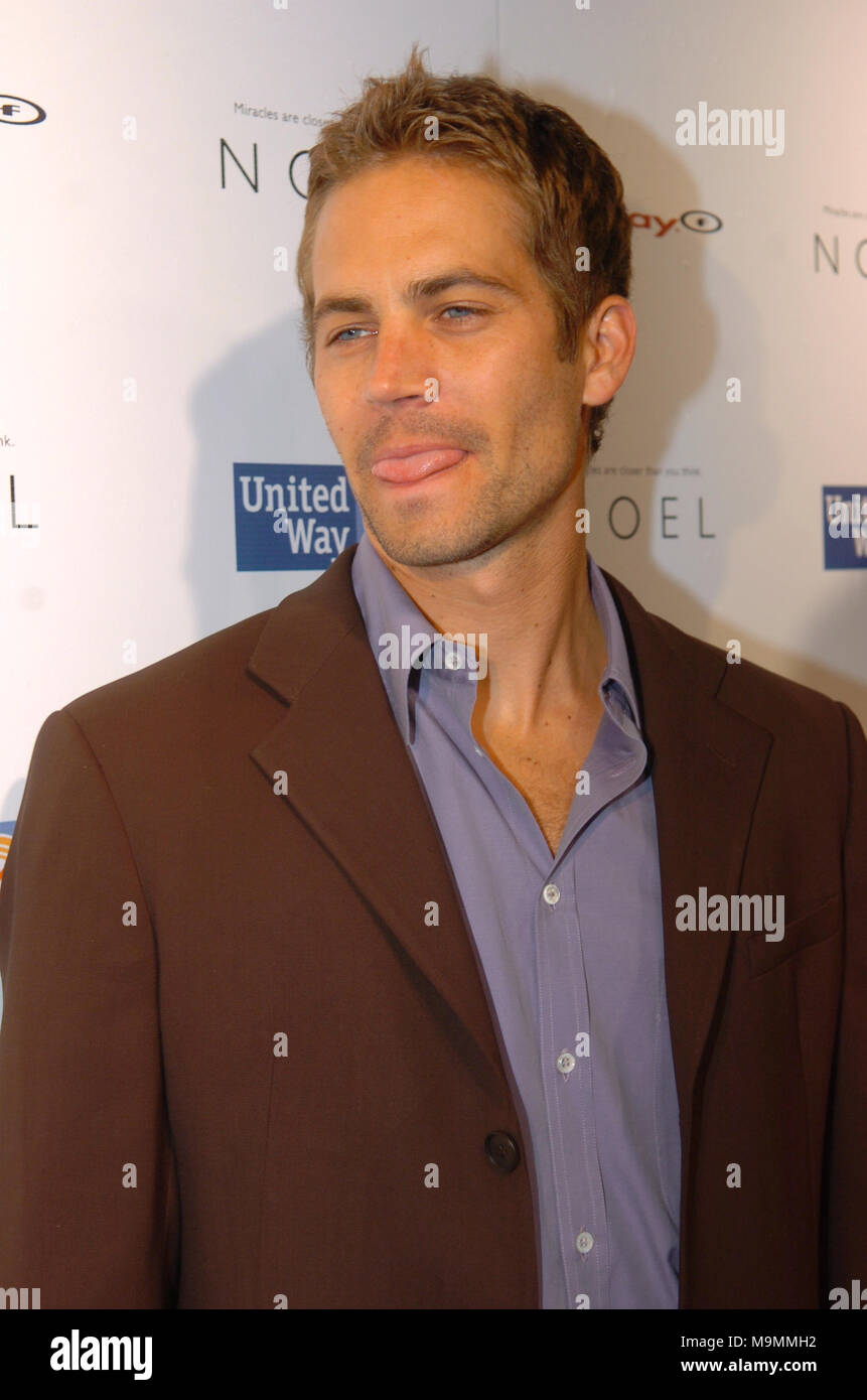 MIAMI, FL - NOVEMBER 30: Actor Paul Walker, who shot to fame as star of the high-octane street racing franchise 'Fast & Furious,' died Saturday in a car crash in Southern California. He was 40. Walker's publicist Ame van Iden confirmed his death, but said she could not elaborate beyond statements posted on Walker's official Twitter and Facebook accounts. Walker was a passenger in a friend's car and both were attending a charity event for his organization, Reach Out Worldwide, in the community of Valencia in Santa Clarita, about 30 miles north of Hollywood. The website for the charity said the  - Stock Image
