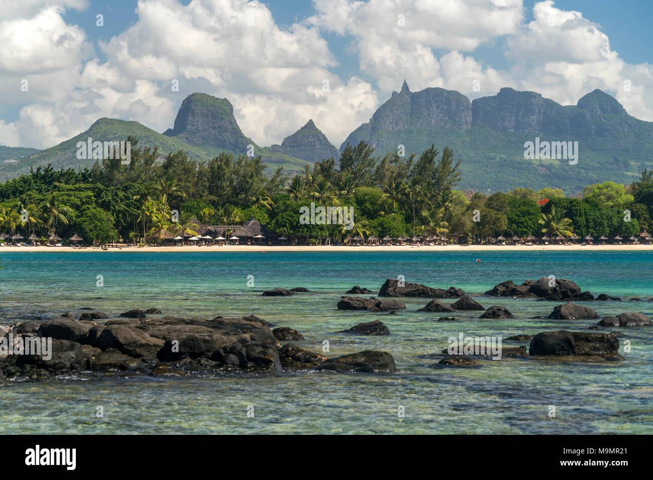 Coast, Northwest coast, Mauritius - Stock Image