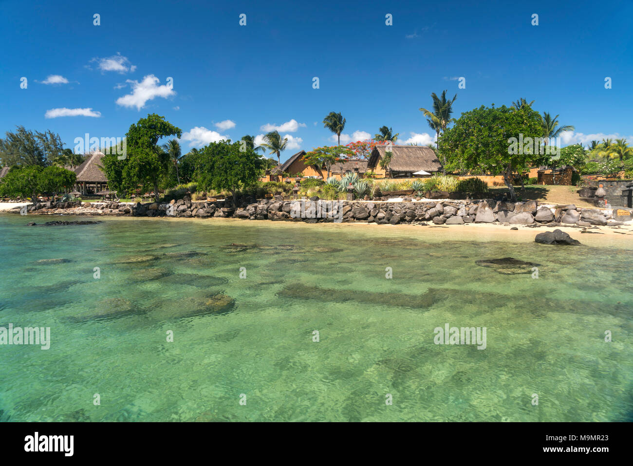 Coast at Oberoi Hotel, Turtle Bay, Mauritius - Stock Image