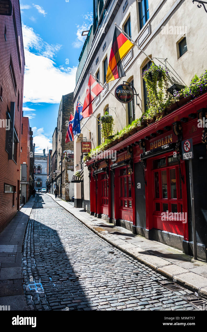 Pedestrian zone in downtown, Dublin, Ireland - Stock Image