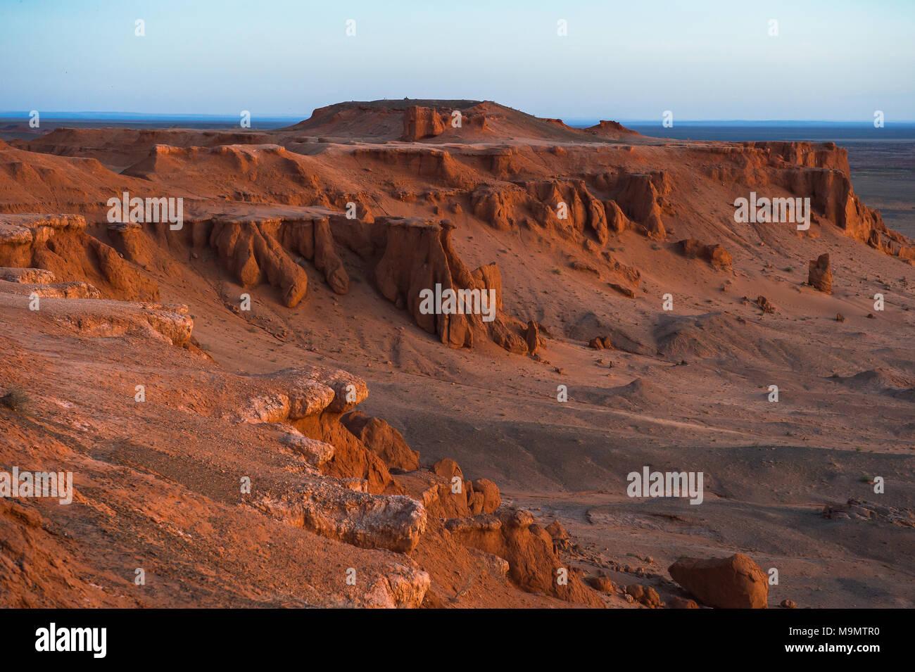 Flaming Cliffs, Gobi desert, Mongolia - Stock Image
