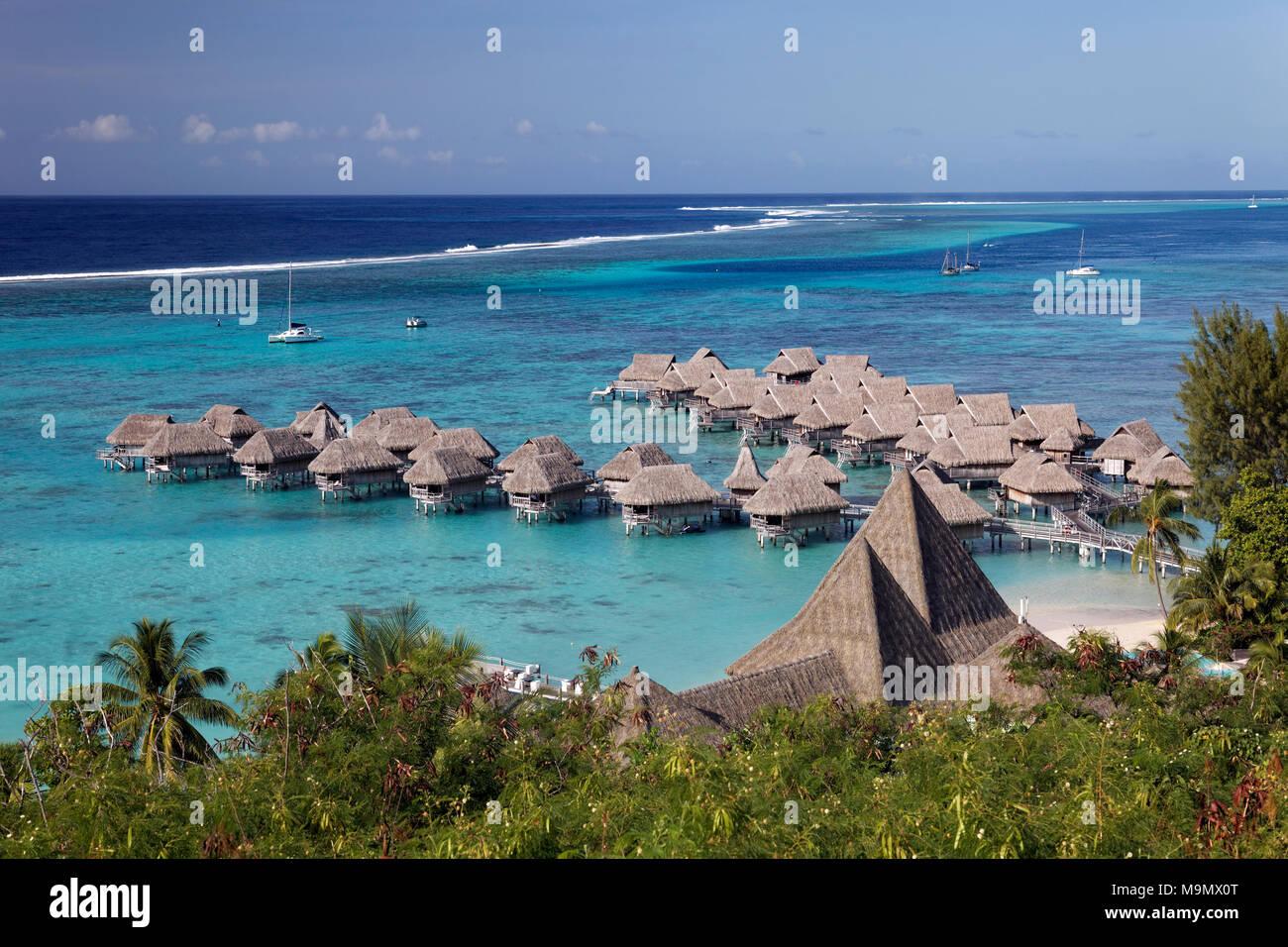 Water Bungalows In Lagoon Sofitel Moorea Hotel Ia Ora Beach