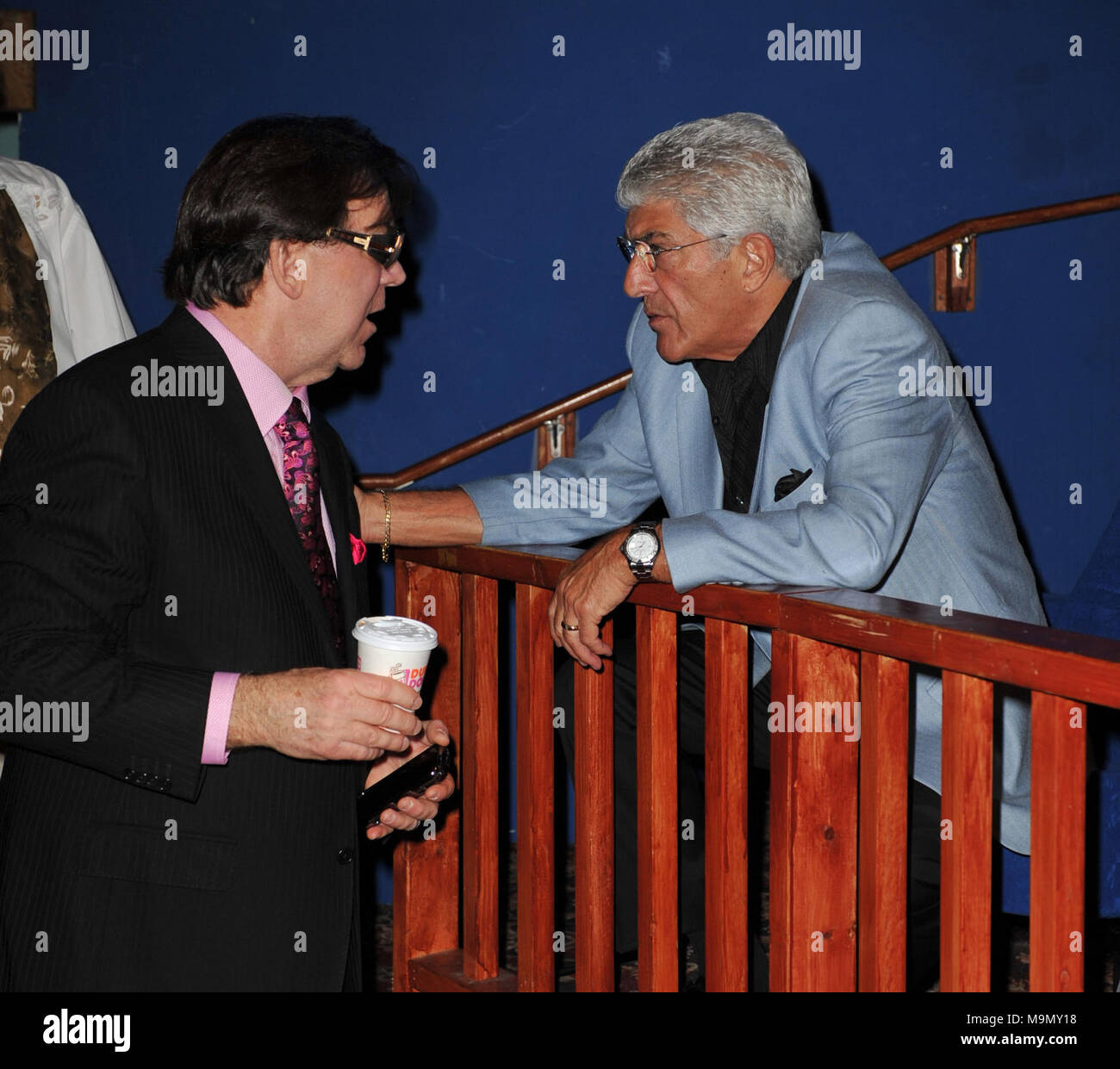 FORT LAUDERDALE, FL - JANUARY 08: Frank Vincent arrives at the screening of Genus On Hold at Cinema Paradiso.  GENIUS ON HOLD is a documentary film narrated by Frank Vincent (Goodfellas, Casino, Raging Bull) that tells the epic story of Walter L. Shaw, an engineering genius who, more than half a century ago, invented technology that transformed the rudimentary telephone system of the 1950's into the foundation of today's cutting edge global telecommunications industry. AT&T held a stranglehold monopoly.   on January 8, 2009 in Fort Lauderdale, Florida.   People:  Frank Vincent - Stock Image