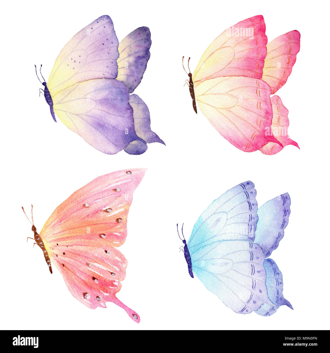 Most Inspiring Wallpaper Butterfly Hand - colorful-hand-drawn-watercolor-butterfly-collection-ideal-for-invitations-cards-wallpapers-printing-on-bags-and-fabric-M9N0FN  Photograph_239642.jpg