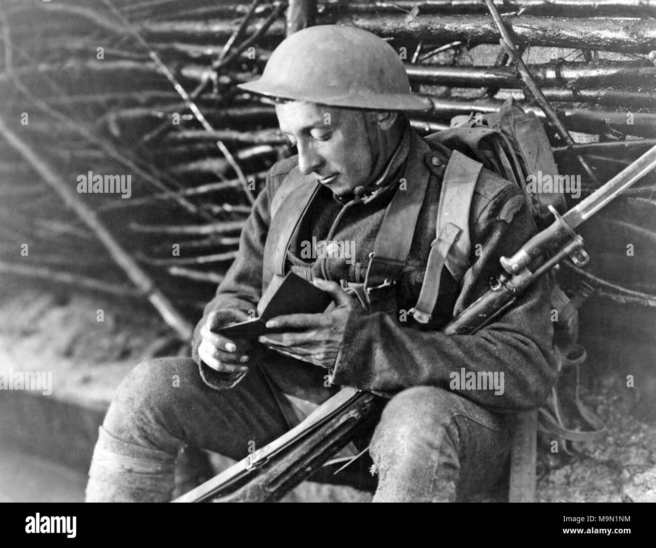 FORD MADDOX FORD (1873-1939) English novelist while enlisted in the Welch Regiment during the First World War - Stock Image