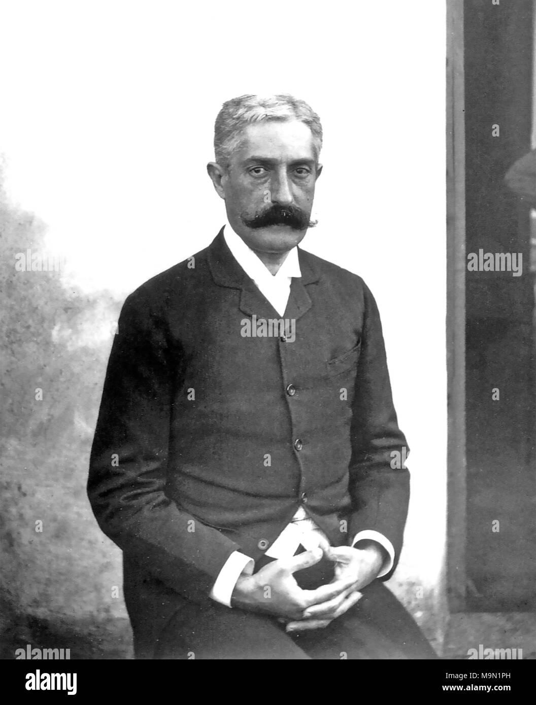 GIOVANNI VERGA (1840-1922) Italian writer and novelist about 1920 - Stock Image