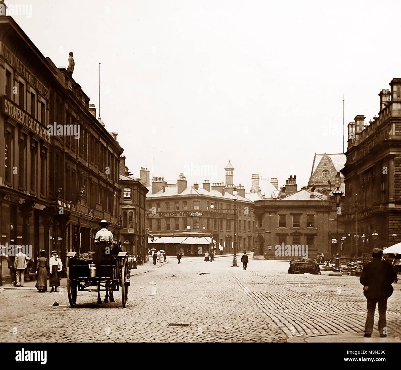 King William Street, Blackburn, Victorian period - Stock Image