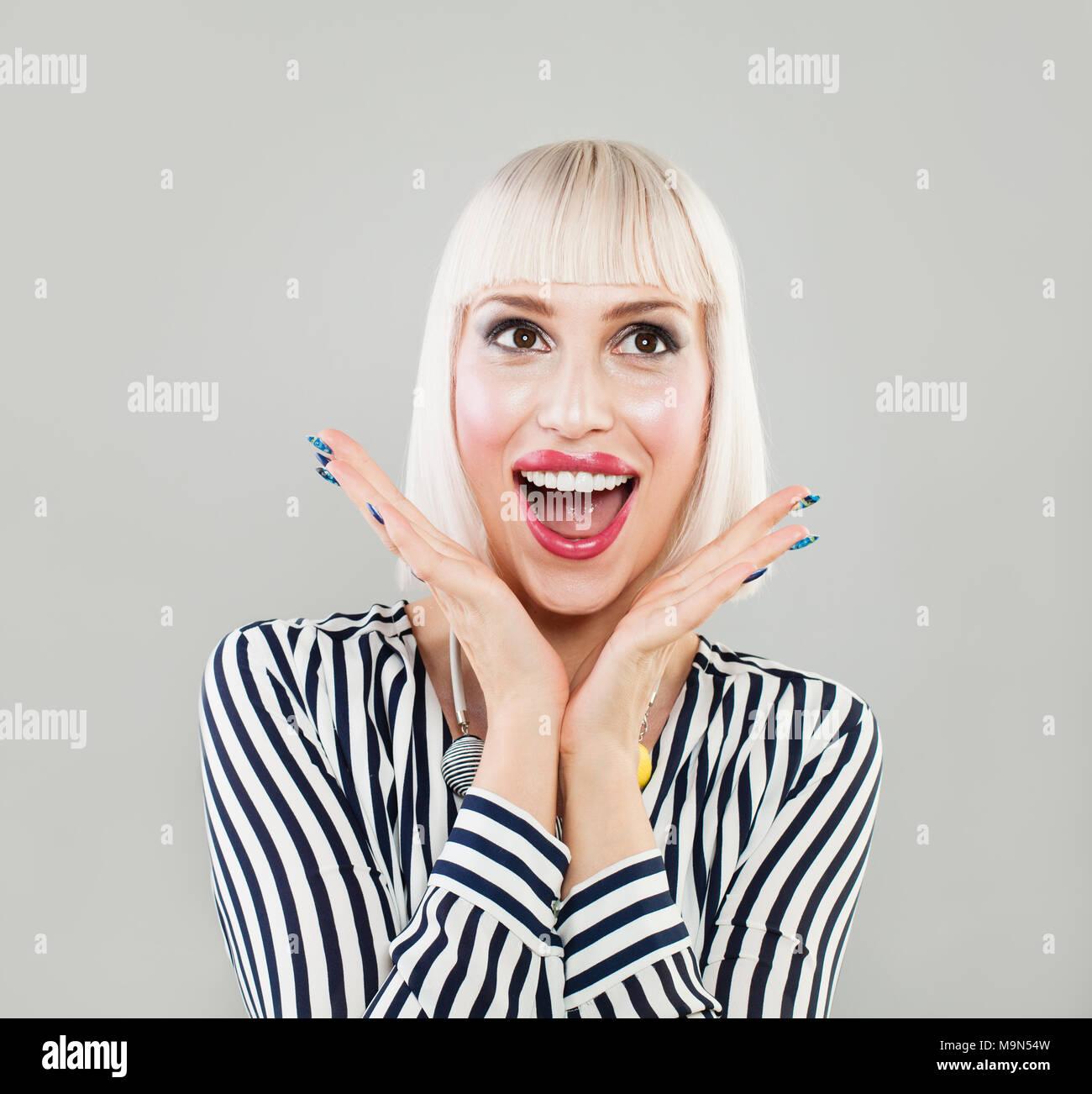Girl With Bob Haircut Stock Photos & Girl With Bob Haircut