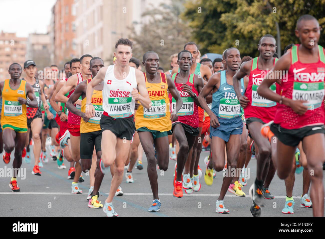 world Half Marathon, 24.05.2018, Valencia, spain, europe - Stock Image