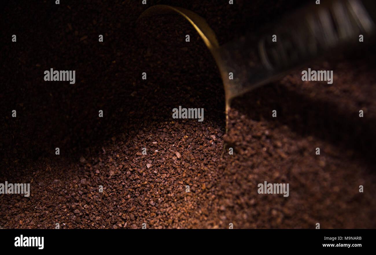 Coffee grounds - Stock Image