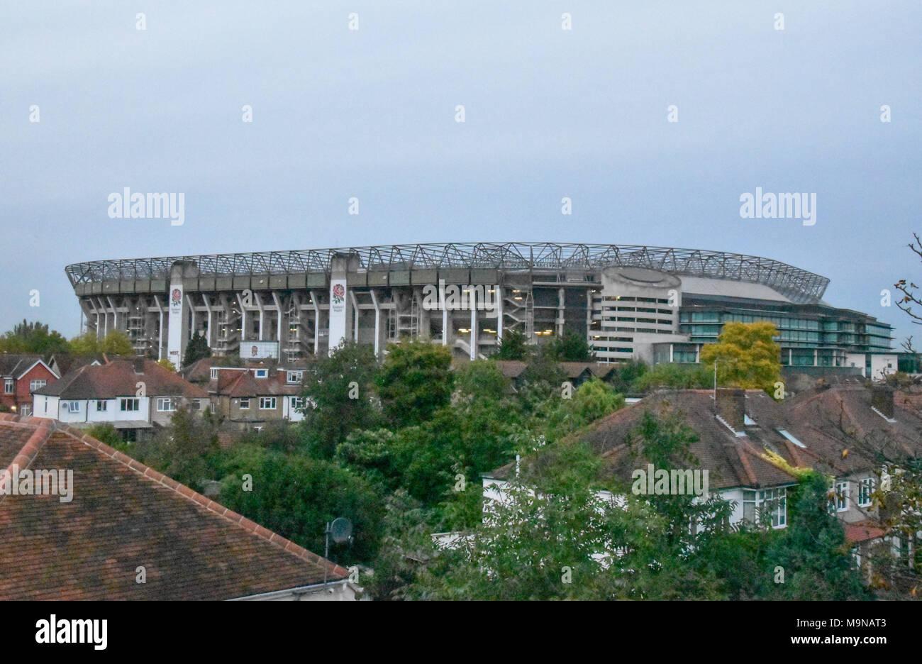 Twickenham Stadium, Whitton Road, Twickenham, London, England. The stadium is home to the England national rugby union team. - Stock Image