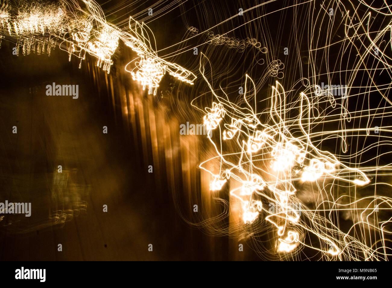 Very noisy light painting - Stock Image