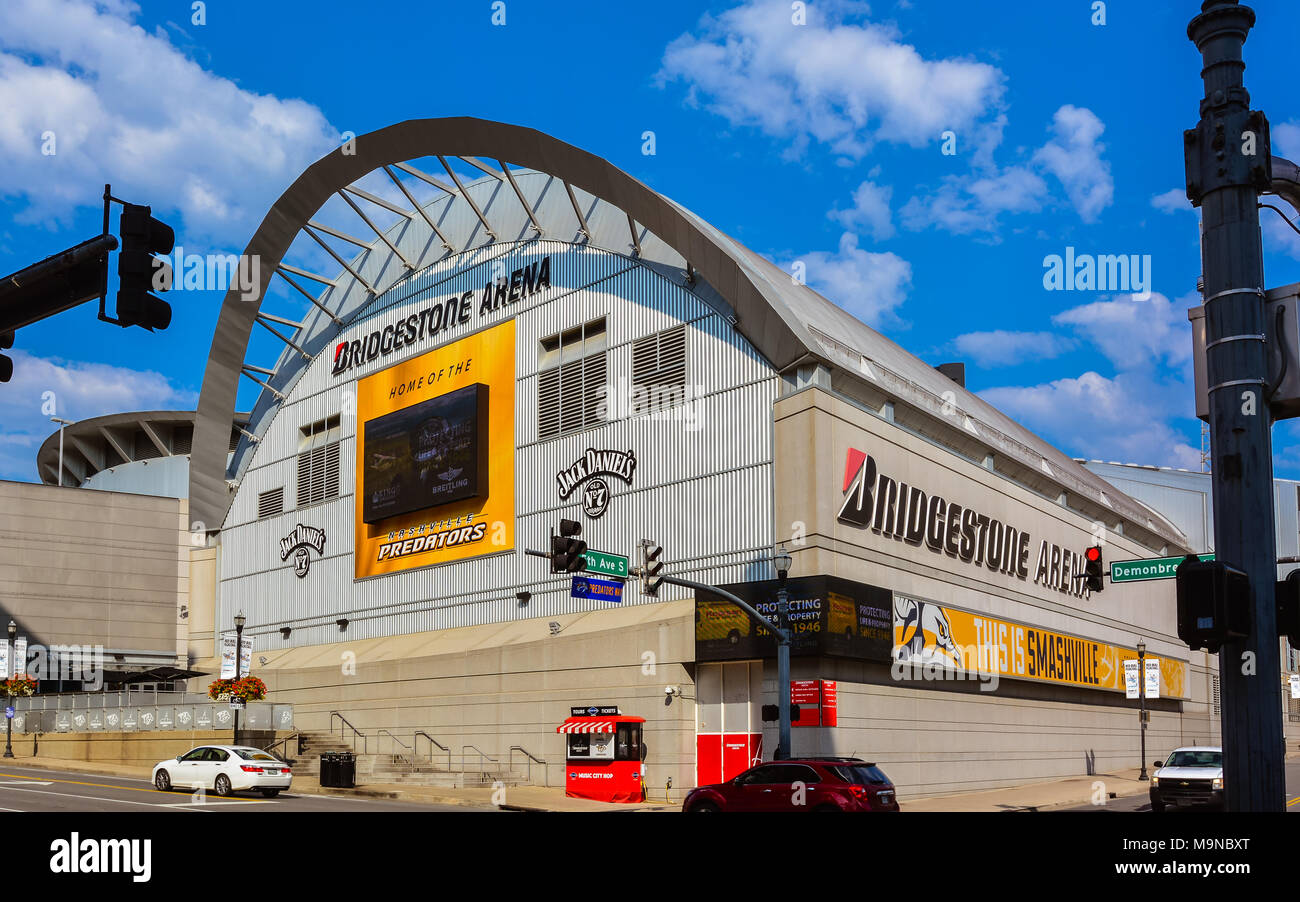 Bridgestone Arena - All-purpose venue and is the home of the Nashville Predators of the NHL, Nashville, Tennessee - Stock Image
