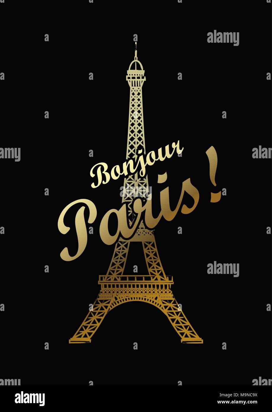 Eiffel tower isolated vector illustration - Stock Vector
