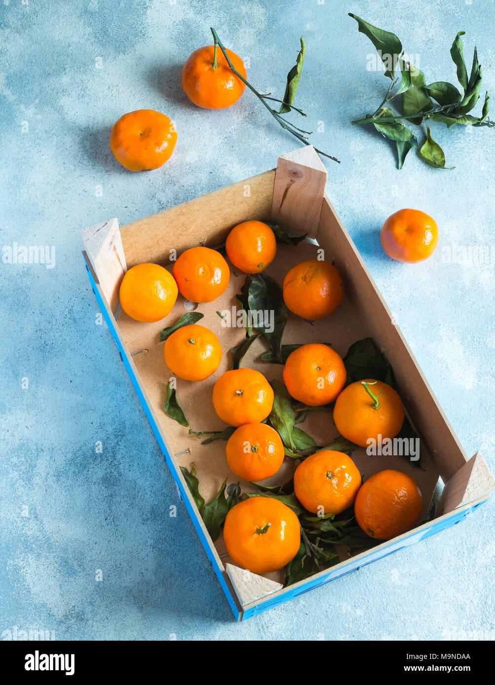 Box of Oranges - Stock Image