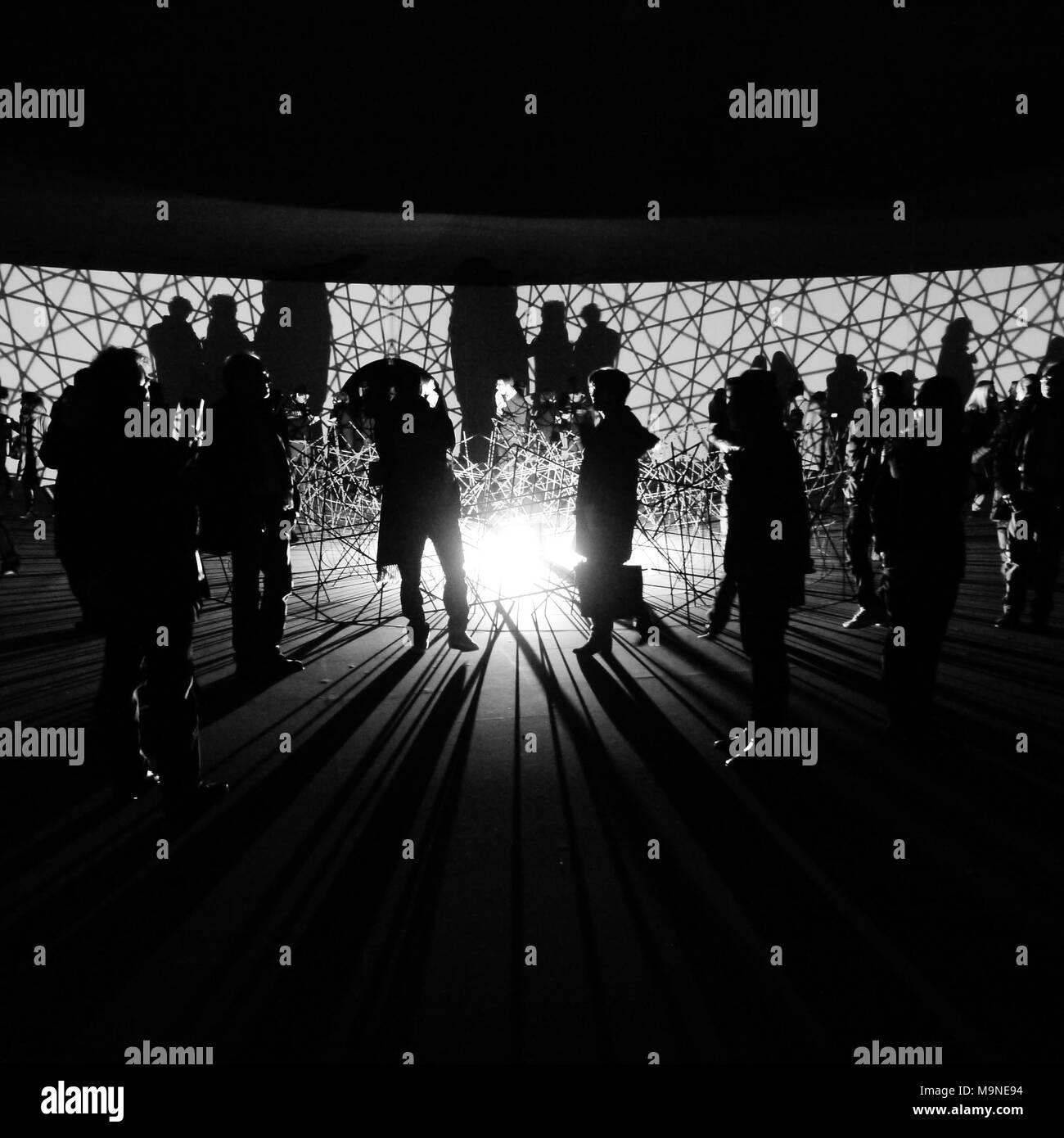 Silhouettes, Louis Vuitton Foundation, Paris, France - Stock Image