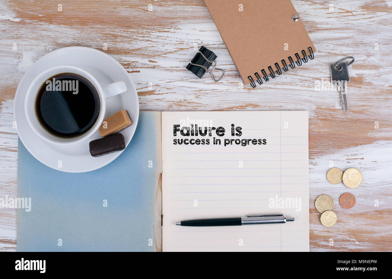 Failure is success in progress - Stock Image