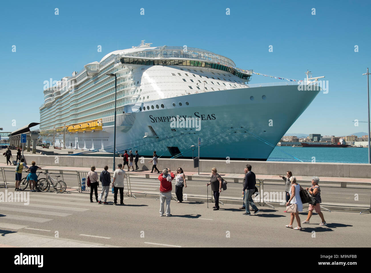 March 27 2018 Malaga Spain International Presentation Of The Cruise Ship Symphony Of The