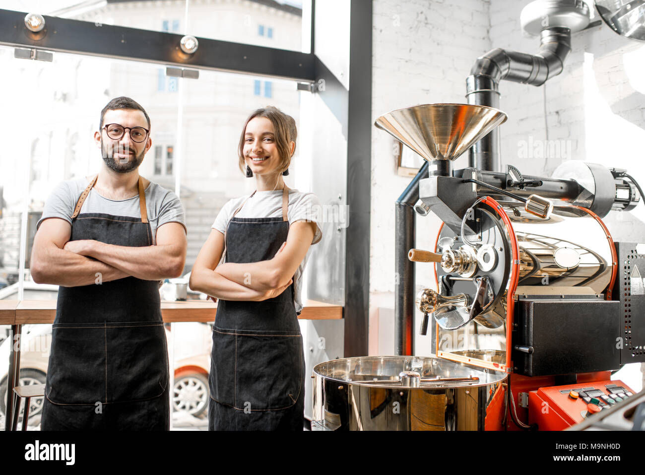 Baristas at the coffee shop - Stock Image