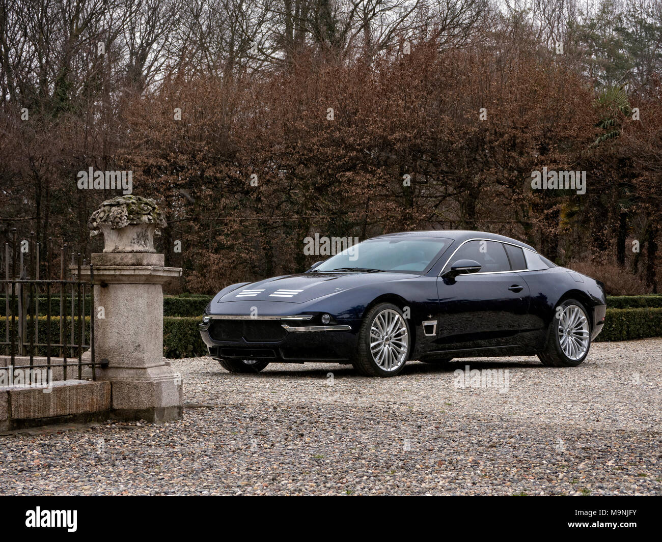 Touring Maserati Sciadipersia 2018. Location Milan Italy - Stock Image