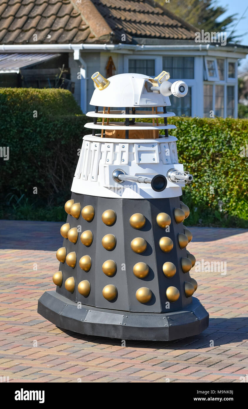 Homemade dalek from Dr Who. Expensive luxury toy. - Stock Image