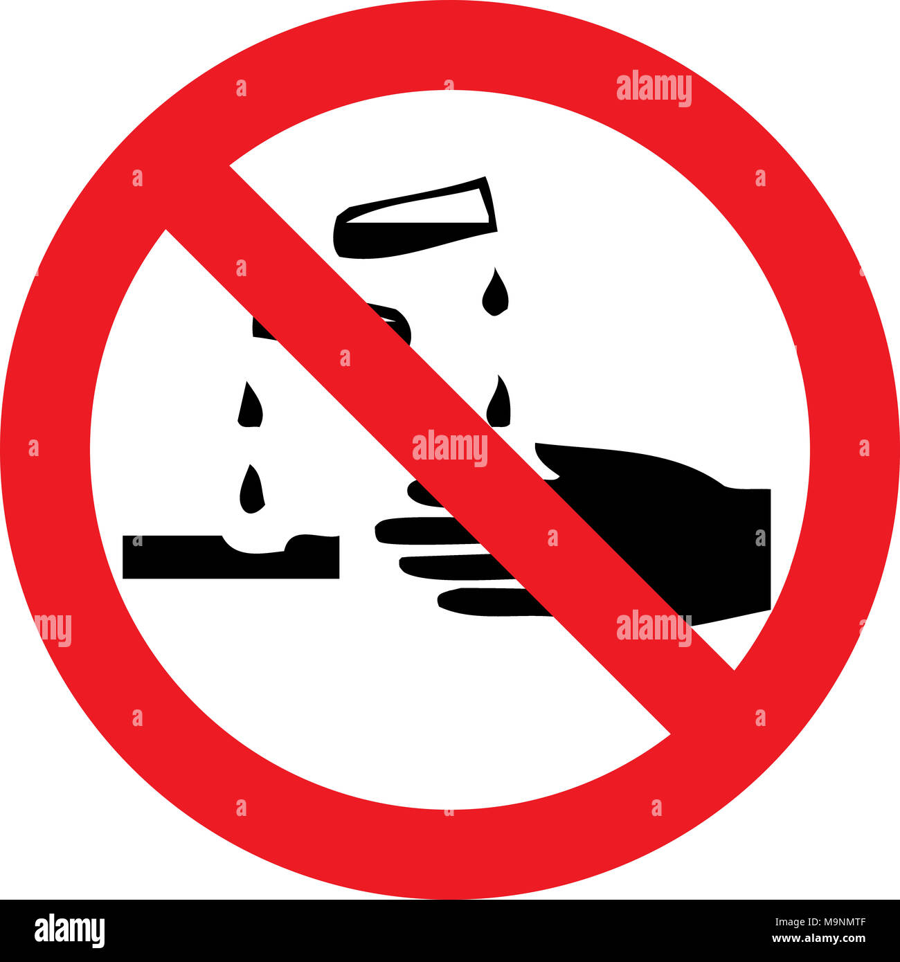 Corrosive label stock photos corrosive label stock images alamy no corrosive substances allowed sign stock image biocorpaavc Gallery