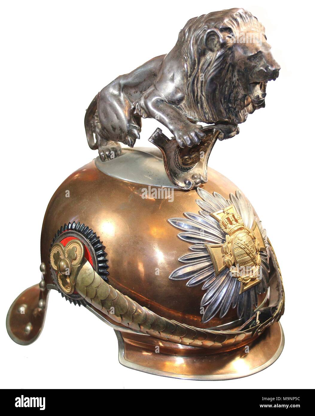 Saxon Garde-Reiter Regiment Parade helmet , pre World War 1 - Stock Image