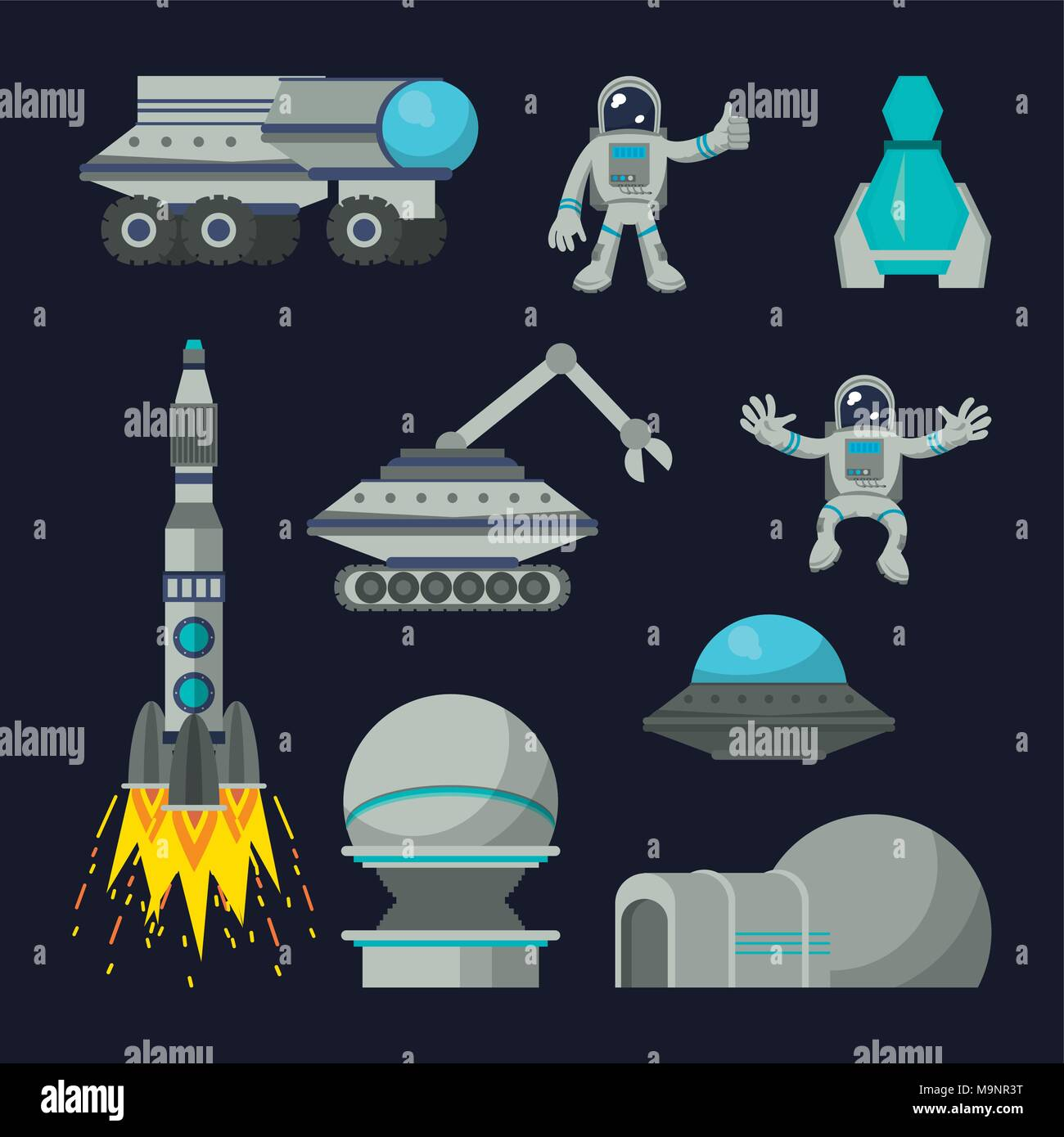 Space exploration technologies - Stock Image