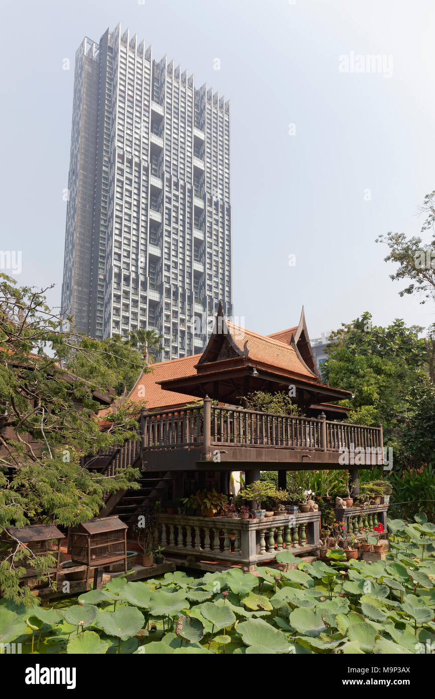Traditional Thai Wooden House On Stilts In Modern District, M. R. Kukritu0027s  House, Museum,