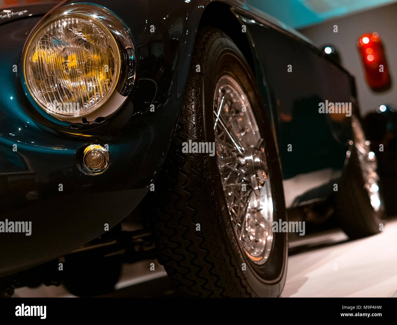 Detail of a Ferrari 166 M Barchetta from 1950, Ferrari is an Italian Sports Car manufacturer founded in Italy 1947. - Stock Image