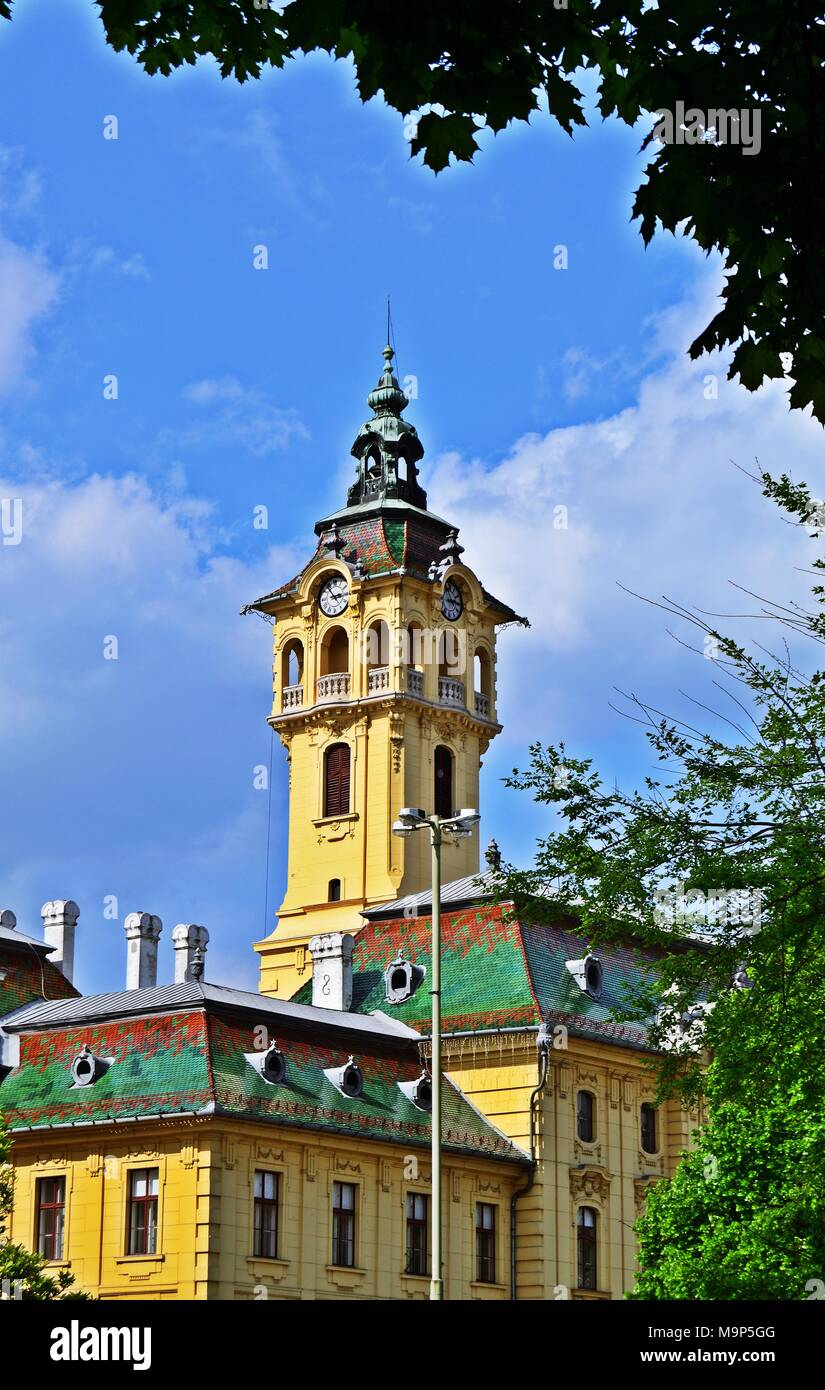 City Hall in Szeged, Hungary - Stock Image