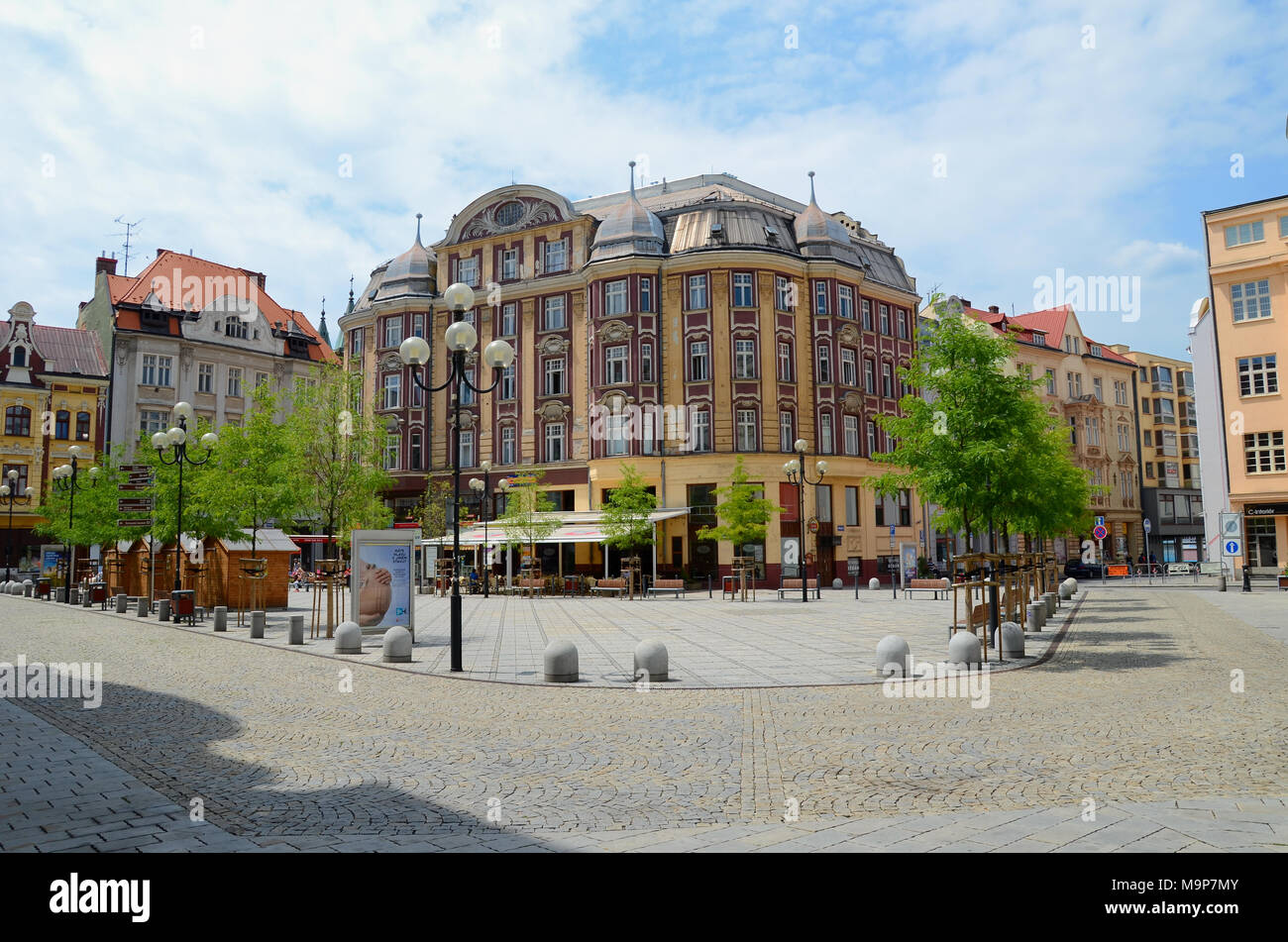 Building in Ostrava, Czech Republic - Stock Image