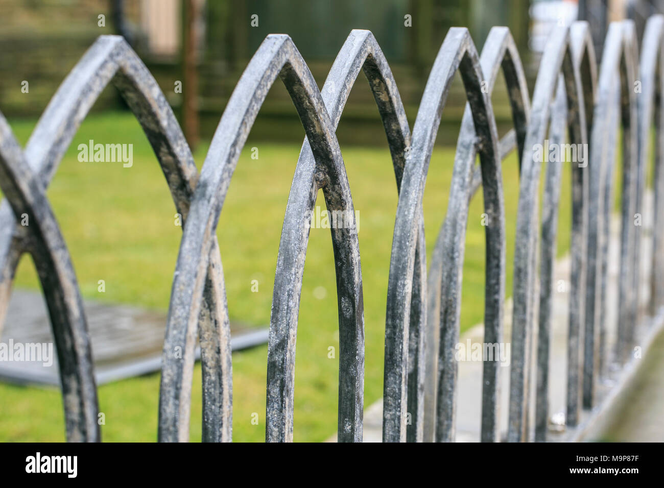 Wrought Iron Gate Spike Stock Photos & Wrought Iron Gate Spike Stock ...