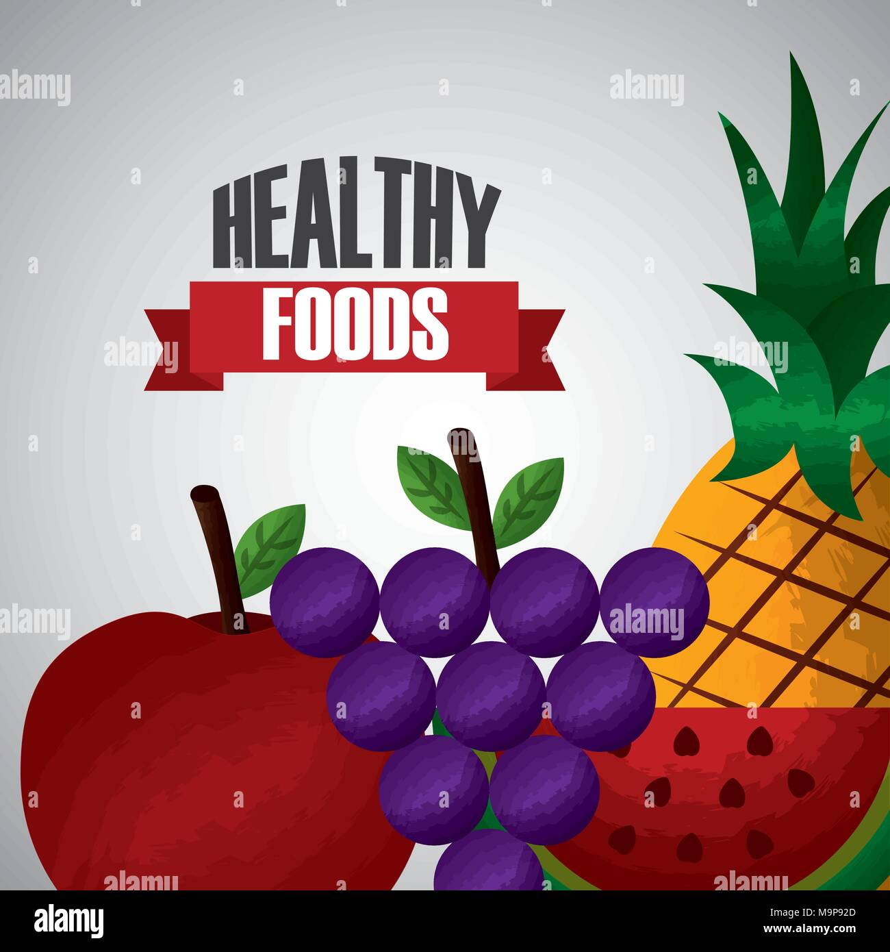 healthy foods dieting - Stock Image
