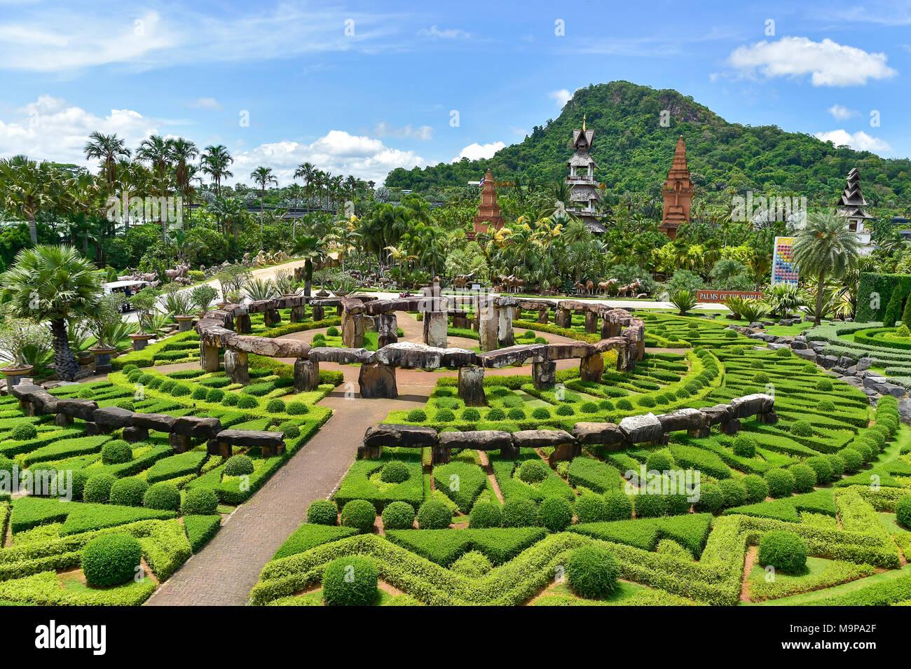 Imitation Stonehenge, Nong Nooch Tropical Botanical Garden, Pattaya, Thailand - Stock Image