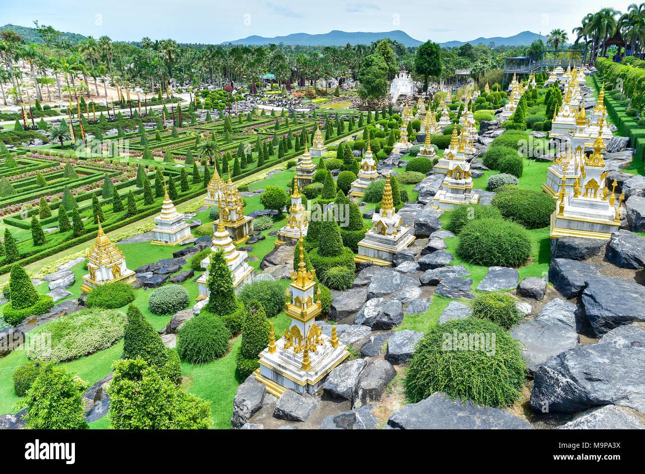 French Garden, Nong Nooch Tropical Botanical Garden, Pattaya, Thailand