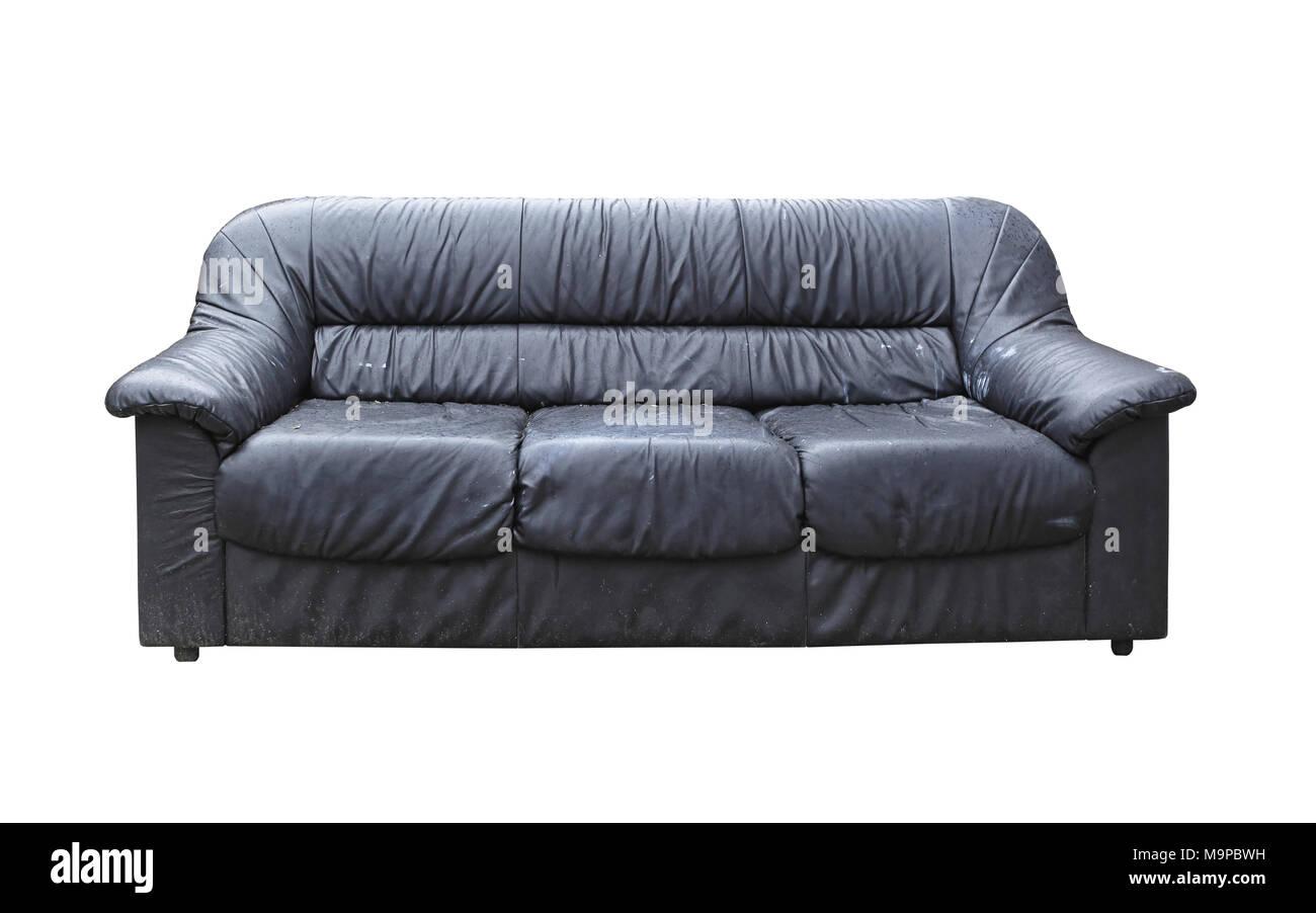 Black Leather Sofa Stock Photos & Black Leather Sofa Stock ...
