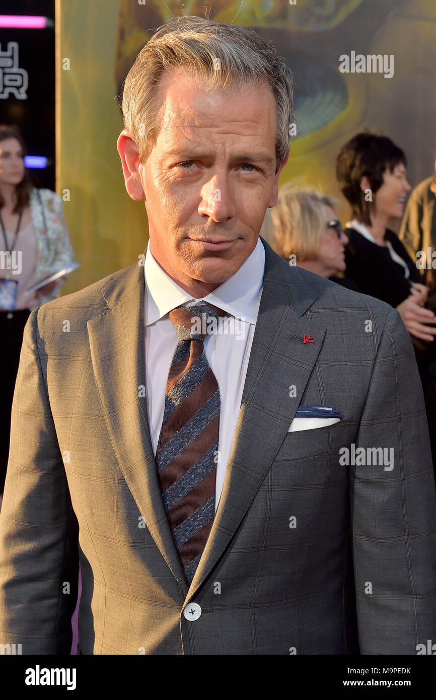 Ben Mendelsohn attends the 'Ready Player One' premiere at Dolby Theater Hollywood on March 26, 2018 in Los Angeles, California. - Stock Image