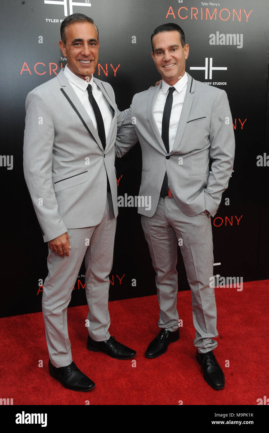New York, NY, USA. 27th Mar, 2018. Ozzie Areu and Will Areu at the NY premiere of Acrimony at the SVA Theatre March 27, 2018 in New York City. Credit: John Palmer/Media Punch/Alamy Live News - Stock Image