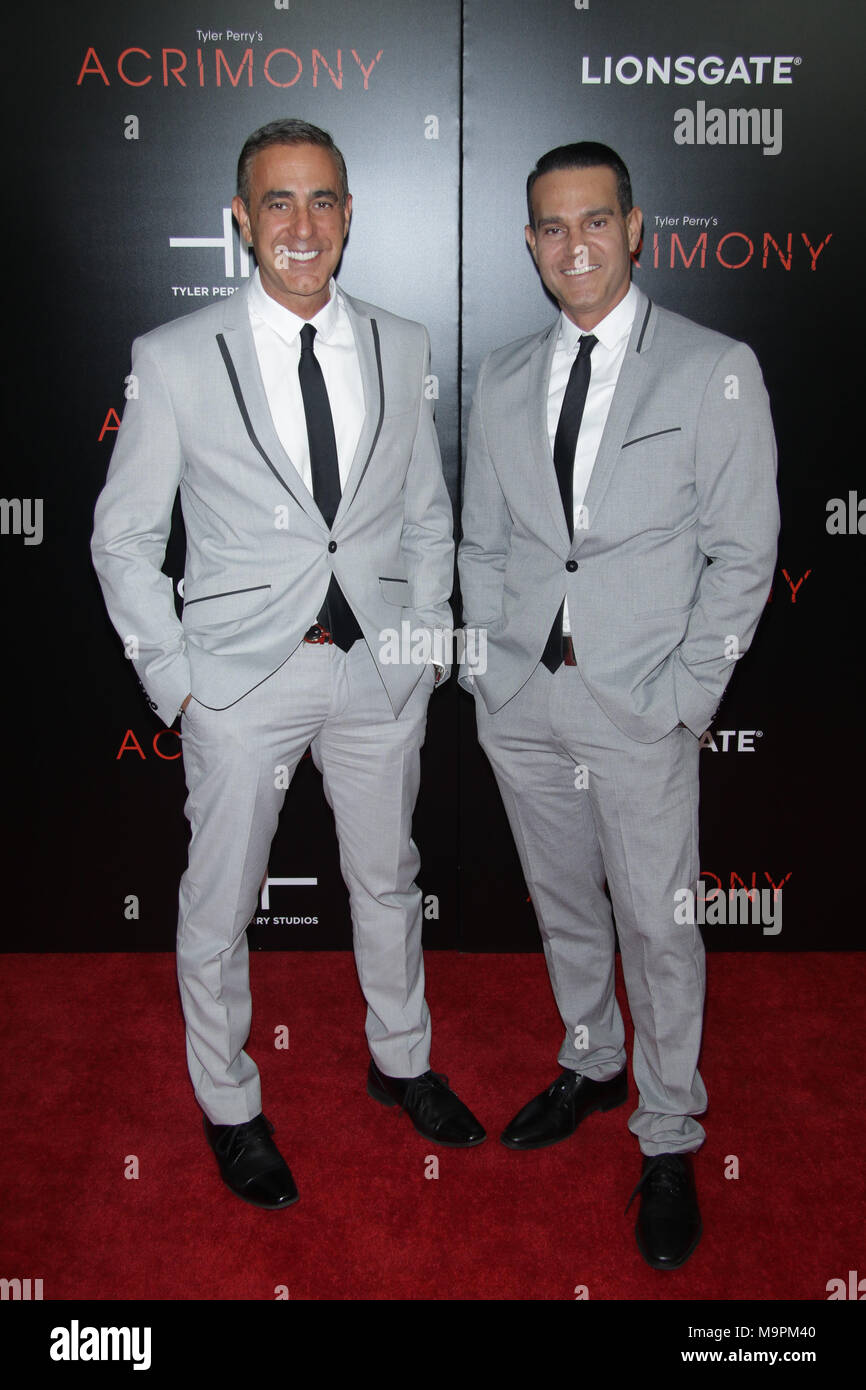 New York, NY, USA. 27th Mar, 2018. Ozzie Areu and Will Areuz at 'Acrimony' New York premiere at SVA Theater on March 27, 2018 in New York City. Credit: Diego Corredor/Media Punch/Alamy Live News - Stock Image