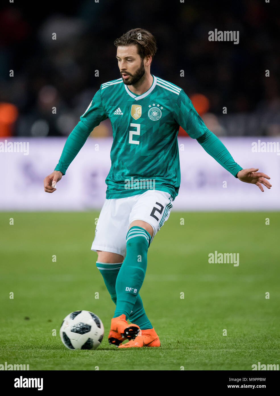 Marvin Plattenhardt (Germany) am Ball  GES/ Fussball/ Freundschaftsspiel: Germany - Brasilien, 27.03.2018  Football / Soccer: Friendly Match: Germany vs Brazil, Berlin, March 27, 2018 |usage worldwide - Stock Image