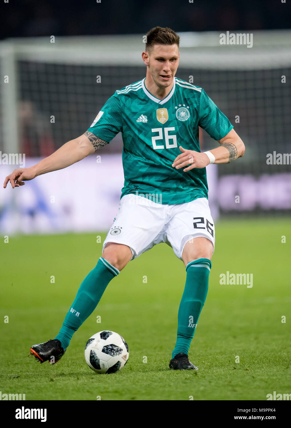 Niklas Suele (Germany) am Ball  GES/ Fussball/ Freundschaftsspiel: Germany - Brasilien, 27.03.2018  Football / Soccer: Friendly Match: Germany vs Brazil, Berlin, March 27, 2018 |usage worldwide - Stock Image