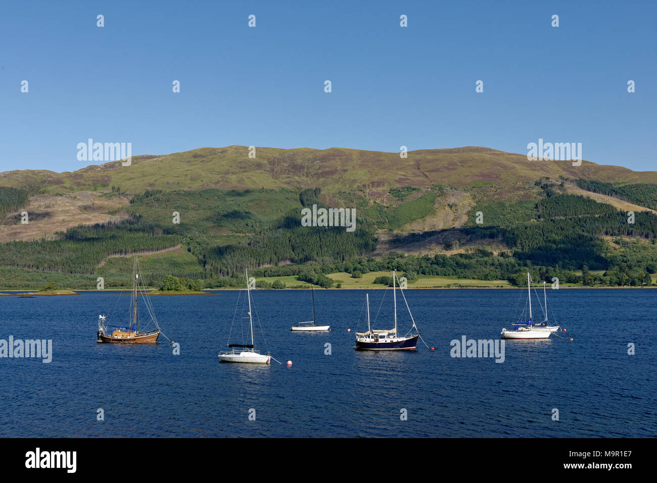 Loch Leven Harbour, Ballachulish near Glencoe, Highlands, Scotland, United Kingdom - Stock Image