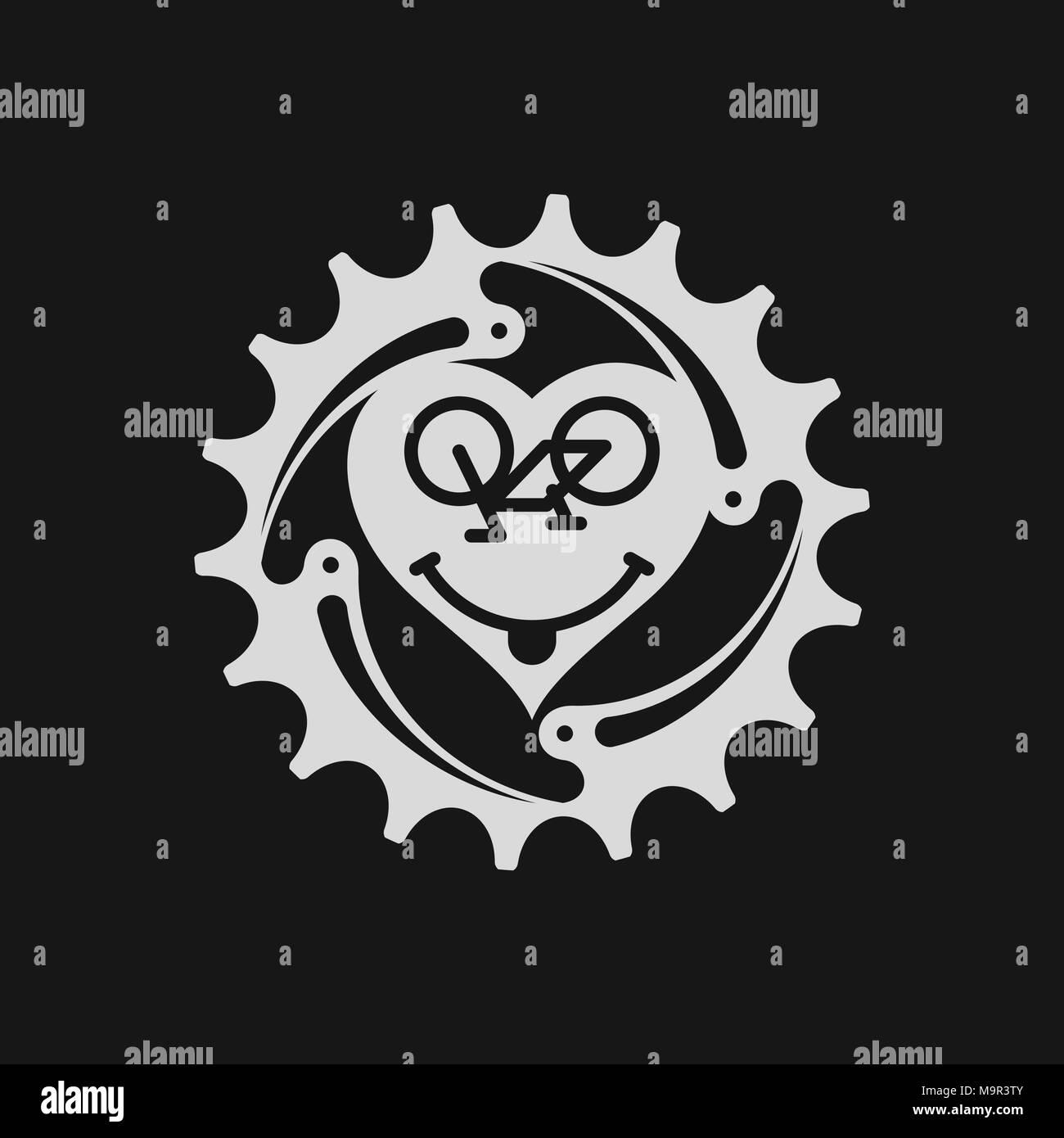 Bicycle Chain Ring Bicycle Emoji Bike Smile Emoticon Or Smiling