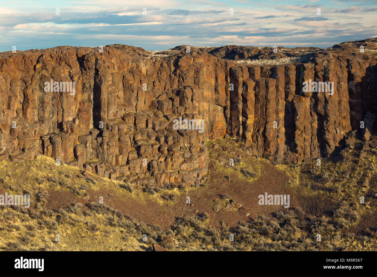 Basalt Columns of Frenchman Coulee, Central Washington State - Stock Image