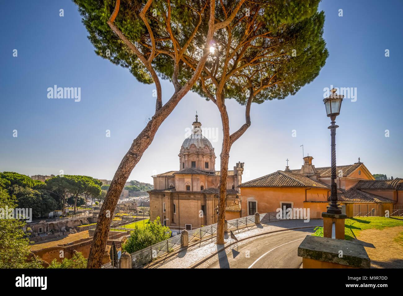 Europa, Italien, Rom, Forum Romanum, Santi Luca e Martina - Stock Image