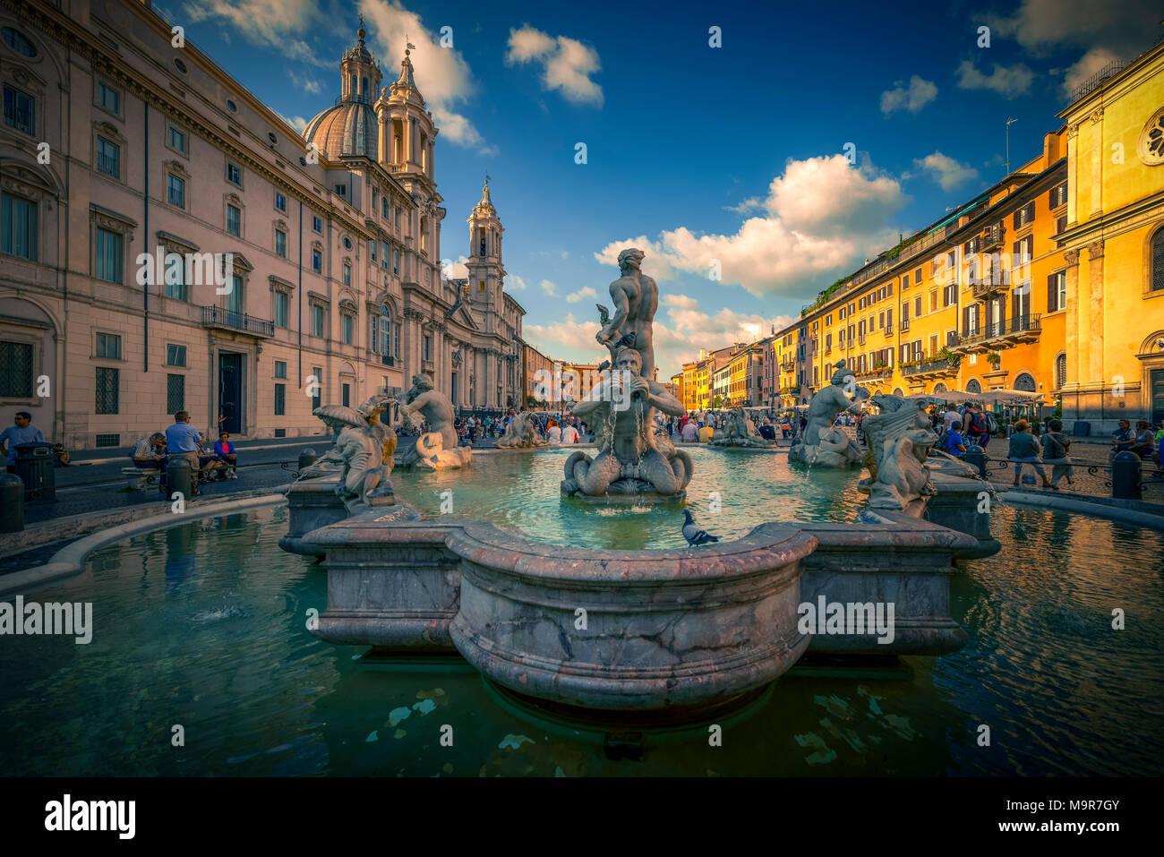 Europa, Italien, Rom, Platz, Piazza Navona - Stock Image