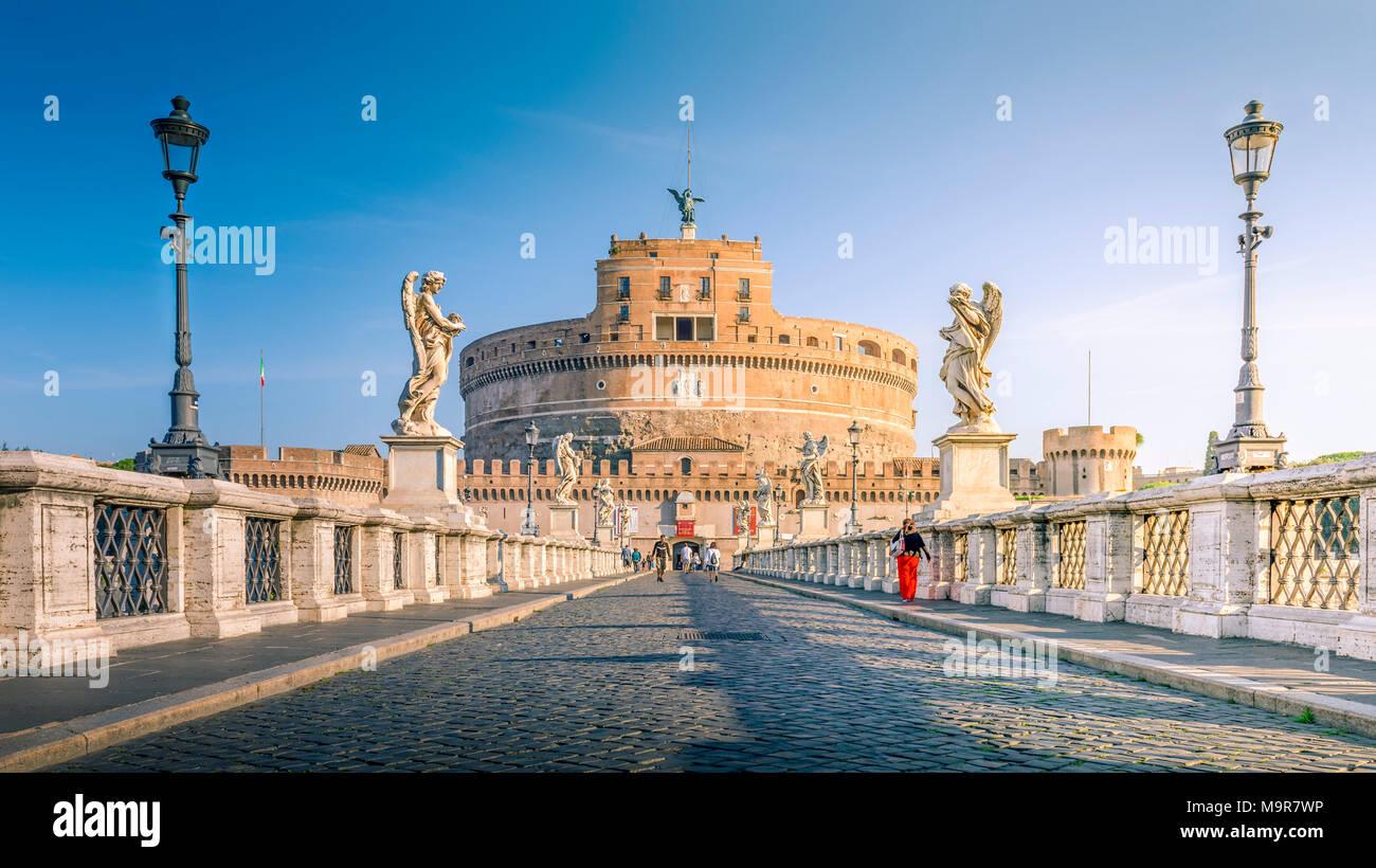 Europa, Italien, Rom, Tiber, Vatikan, Engelsburg - Stock Image